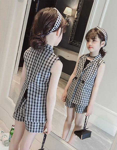 Bộ vest bé gái mùa hè
