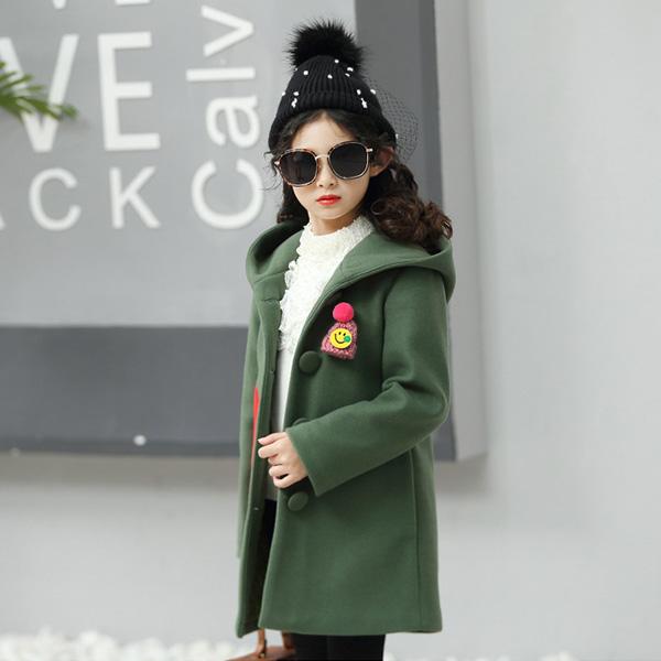 Áo khoác dạ bé gái